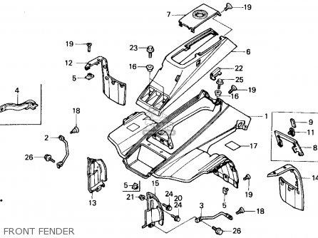 Honda Trx200sx Fourtrax 200sx 1988 Usa parts list