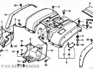 Honda TRX250 1999 (X) parts lists and schematics