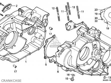 Honda Trx250 Fourtrax 1985 Canada parts list partsmanual