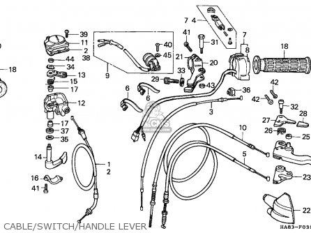 Honda Trx250 Fourtrax 1985 Canada / 2cm parts list