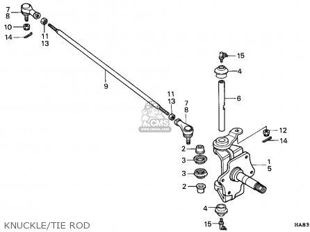 Honda Trx250 Fourtrax 1985 Canada / 2cm parts list