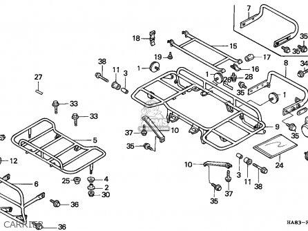 Honda Trx250 Fourtrax 1985 (f) Canada parts list