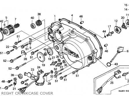 Honda Trx250 Fourtrax 1985 Latin America parts list