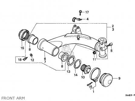 Honda Trx250 Fourtrax 1986 (g) Australia / Hor parts list