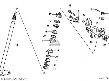 Honda TRX250 FOURTRAX 1986 (G) CANADA parts lists and