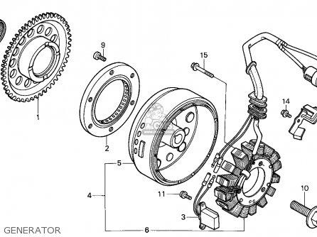 Honda Trx250 Fourtrax 1987 (h) England parts list