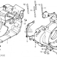 Car Starter Motor Wiring Diagram 7 Pin Trailer Plug Chevy Honda Trx250 Fourtrax 250 1985 F Usa Parts Lists And Schematics Crankcase