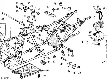 Honda Trx250 Fourtrax 250 1986 Usa Carburetor Schematic