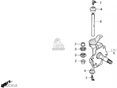 Honda Trx250 Fourtrax 250 1986 (g) Usa parts list