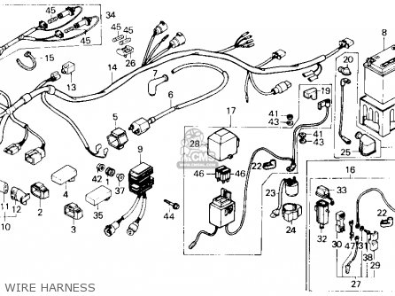 Honda 450 Es Engine Diagrams, Honda, Free Engine Image For