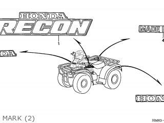 Honda Trx250 Fourtrax Recon 1997 U.s.a (california Only