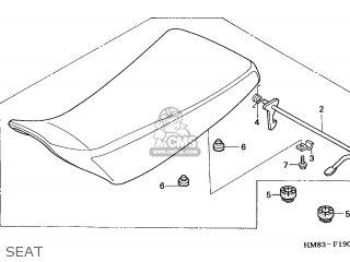 Honda Trx250 Fourtrax Recon 1997 (v) California parts list