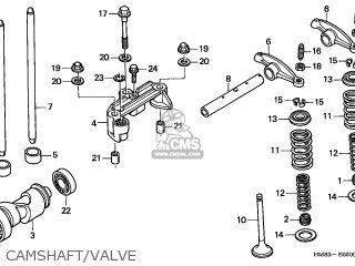 Honda Trx250 Recon 1999 (x) Canada Cmf parts list