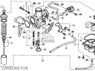 Honda Trx250 Recon 1999 (x) Canada Cmf parts list