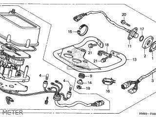 Honda TRX250 RECON 2001 (1) CANADA CMF parts lists and