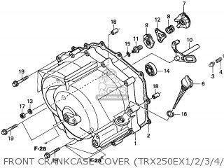 Honda TRX250EX SPORTRAX 2001 (1) USA parts lists and