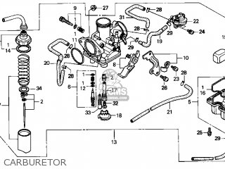 Honda Trx250 Fourtrax Recon 1997 (v) Usa parts list
