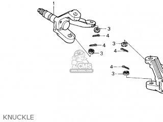 Honda Trx250 Fourtrax Recon 1997 (v) Usa parts list