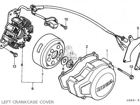 Honda Trx250r Fourtrax 1986 Canada parts list partsmanual