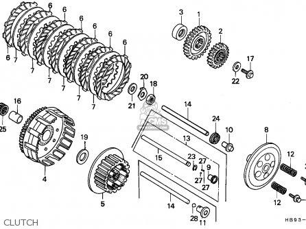 Honda Trx250r Fourtrax 1987 parts list partsmanual partsfiche