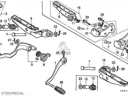 Honda Trx250r Fourtrax 1987 (h) Canada parts list