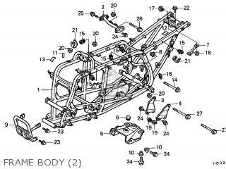 Honda Trx250r Fourtrax 1988 European Direct Sales parts