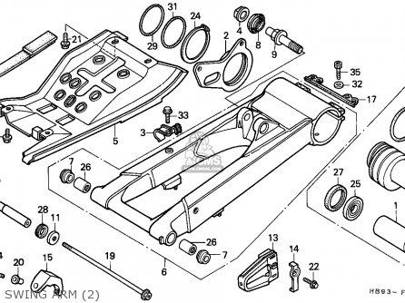 Honda Trx250r Fourtrax 1988 parts list partsmanual partsfiche