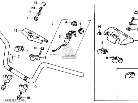 Honda Trx250r Fourtrax 250r 1986 Usa parts list