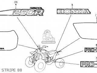 Honda Trx250r Fourtrax 250r 1988 (j) Usa parts list
