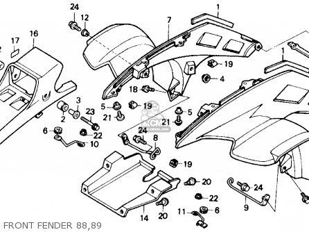 Honda Trx250r Fourtrax 250r 1988 Usa parts list