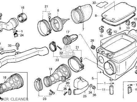 Honda Trx250r Fourtrax 250r 1989 (k) Usa parts list