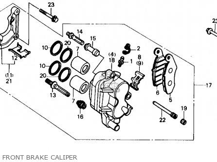 Honda TRX250R FOURTRAX 250R 1989 (K) USA parts lists and