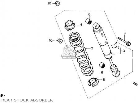 Honda Trx250x Fourtrax 250x 1987 Usa parts list