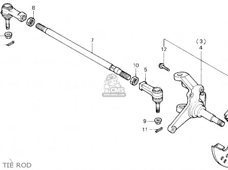 Honda TRX250X FOURTRAX 250X 1988 (J) USA parts lists and
