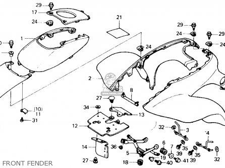 Honda TRX250X FOURTRAX 250X 1991 (M) USA parts lists and