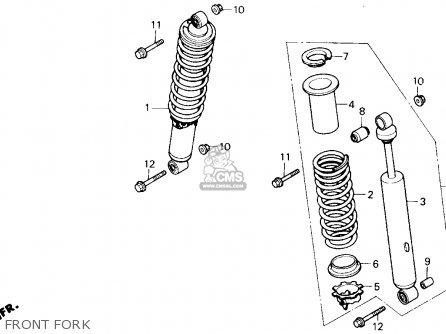 Honda Trx250x Fourtrax 250x 1991 (m) Usa parts list
