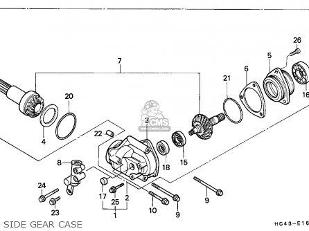 Honda Trx300 Fourtrax 1988 (j) Australia parts list