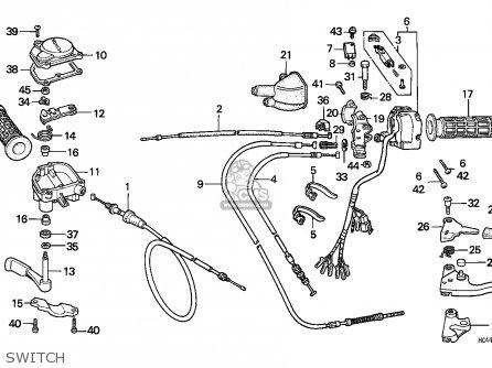 Honda TRX300 FOURTRAX 1988 (J) USA parts lists and schematics