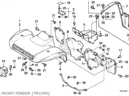 Honda Trx300 Fourtrax 1989 (k) Canada parts list