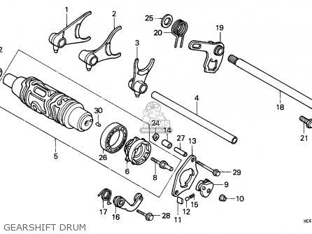 Honda TRX300 FOURTRAX 1989 (K) ENGLAND parts lists and