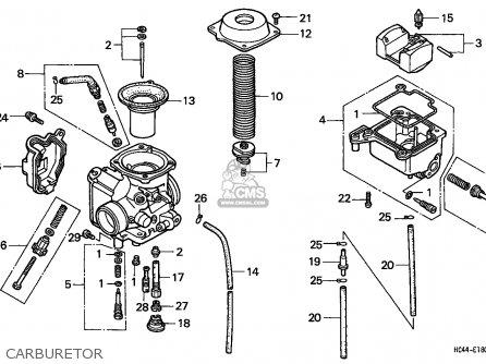 Honda Trx300fw Fourtrax 1994 Usa Except California Parts