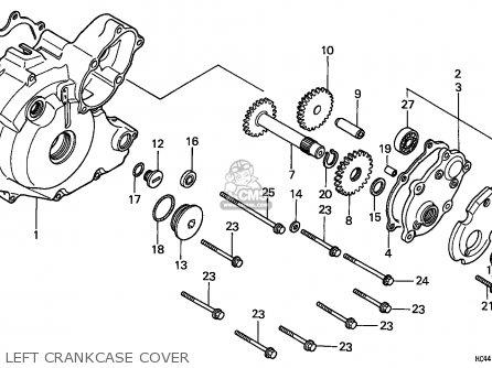 Honda Trx300 Fourtrax 1989 U.s.a (except California) parts