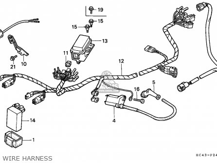 Honda Trx300 Fourtrax 1989 parts list partsmanual partsfiche