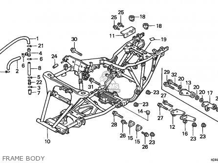 Honda Trx300 Fourtrax 1990 (l) Usa parts list partsmanual