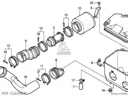 Honda Trx300 Fourtrax 1991 parts list partsmanual partsfiche