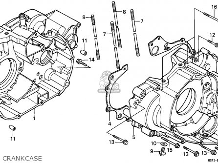 Honda Trx300 Fourtrax 1991 Australia / Spm parts list