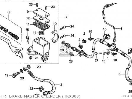 Honda Trx300 Fourtrax 1991 (m) Canada parts list