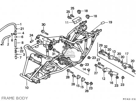 Honda 300 Fourtrax Rear End Parts Diagram. Honda. Auto