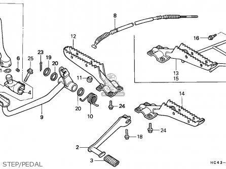 Honda TRX300 FOURTRAX 1991 (M) CANADA parts lists and