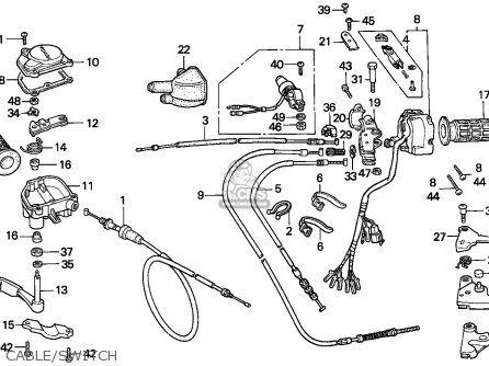Honda Trx300 Fourtrax 1992 parts list partsmanual partsfiche